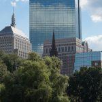 Public Garden and Hancock Tower